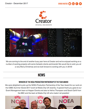 Creator Newsletter December 2017