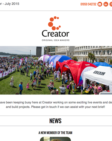 Creator Newsletter July 2015